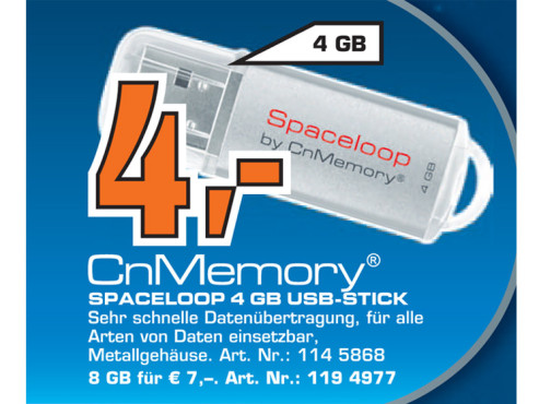 CnMemory Spaceloop 4GB © Saturn