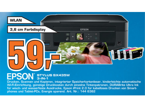 Epson Stylus SX435W ©Saturn
