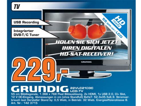 Grundig 22 VLC 2103 C ©Saturn