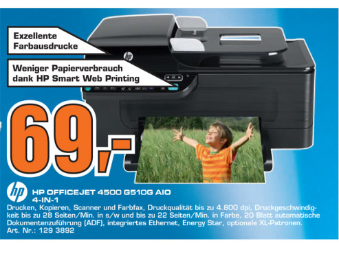 Hewlett-Packard HP Officejet 4500 © Saturn
