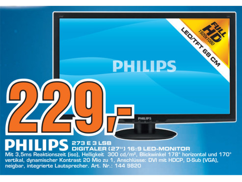 Philips 273E3LSB © Saturn
