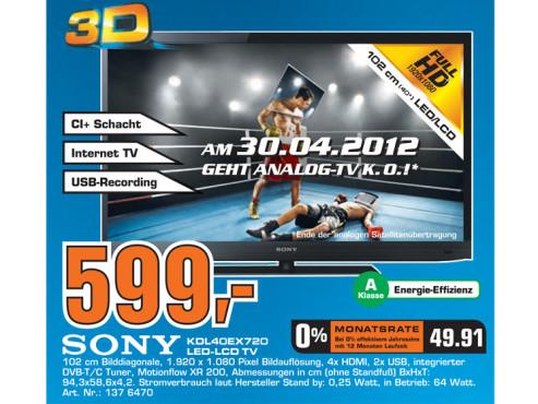 Sony KDL-40EX720 ©Saturn