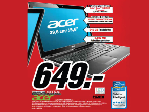 Acer Aspire 5750G-2458G64Mnkk ©Media Markt