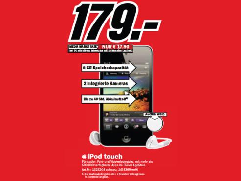 Apple iPod touch 8GB (4. Generation) ©Media Markt
