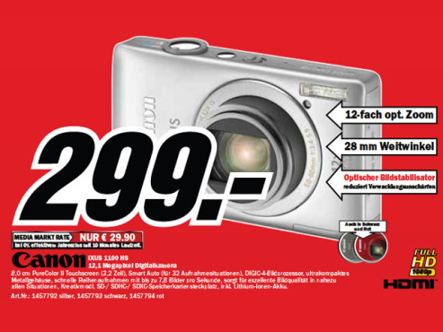 Canon Digital Ixus 1100 HS ©Media Markt
