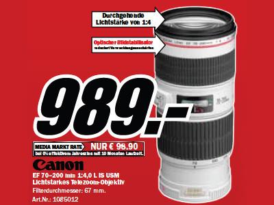 Canon EF 70-200mm f4.0 L IS USM ©Media Markt