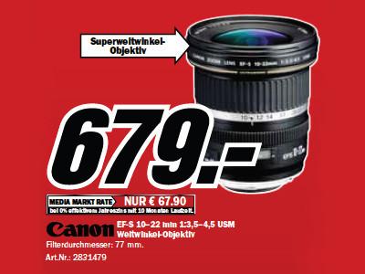Canon EF-S 10-22mm f3.5-4.5 USM ©Media Markt