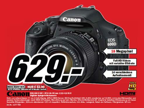 Canon EOS 600D Kit 18-55 mm ©Media Markt