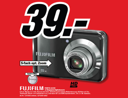 Fujifilm FinePix AX300 ©Media Markt