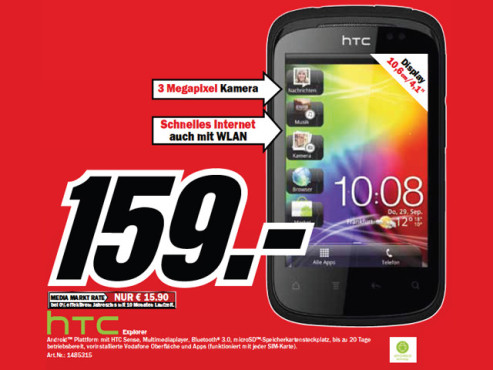 HTC Explorer ©Media Markt