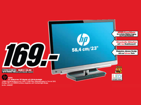 Hewlett-Packard HP X2301 ©Media Markt