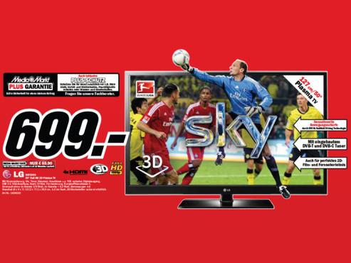 LG 50PZ550 ©Media Markt