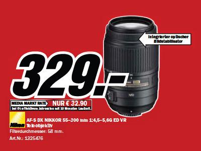 Nikon AF-S DX Nikkor 55-300mm f4.5-5.6 G ED VR ©Media Markt