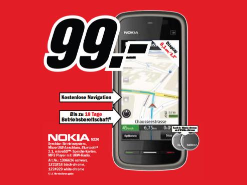 Nokia 5230 Navigation ©Media Markt