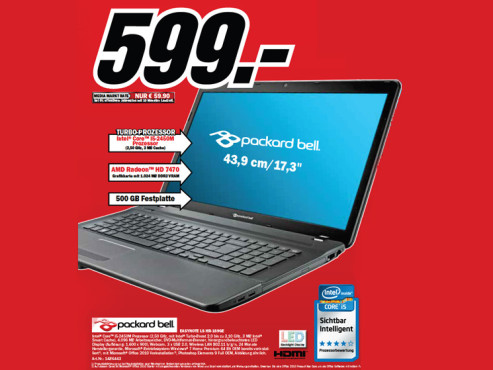 Packard Bell EasyNote LS HR-189GE ©Media Markt