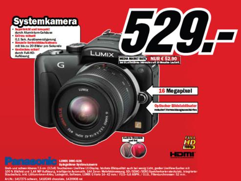 Panasonic Lumix DMC-G3 Kit 14-42 mm (DMC-G3K) ©Media Markt