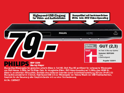 Philips BDP3200 ©Media Markt