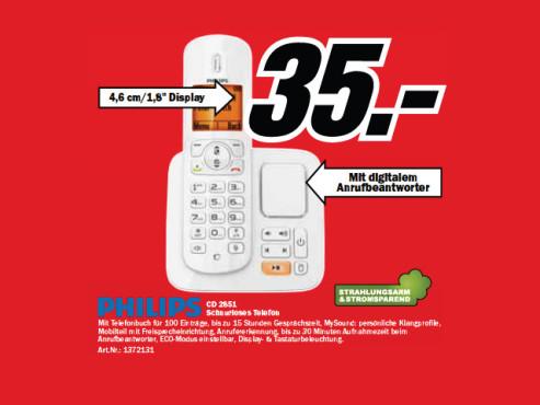Philips CD 2851 ©Media Markt