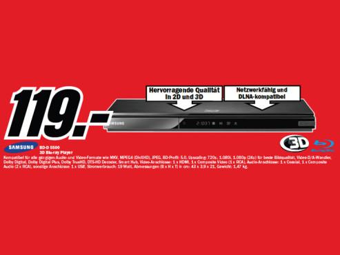 Samsung BD-D5500 ©Media Markt