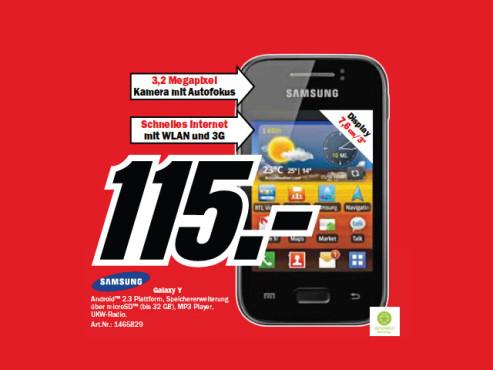 Samsung Galaxy Y (S5360) ©Media Markt