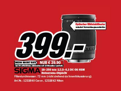 Sigma 18-250mm f3.5-6.3 DC OS HSM (Canon) ©Media Markt
