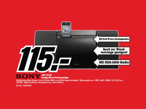 Sony CMT-CX5iP ©Media Markt