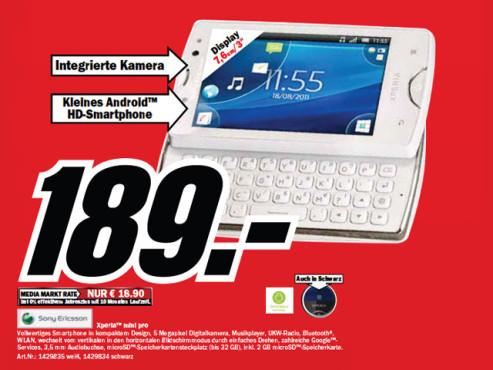 Sony-Ericsson Xperia Mini Pro ©Media Markt