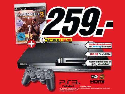 Sony Playstation 3 Slim mit Spiel ©Media Markt