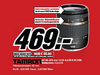 Tamron AF 18-270mm f3.5-6.3 Di II VC PZD (Canon/Nikon) ©Media Markt