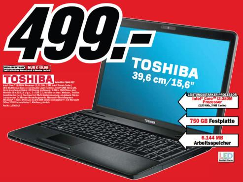 Toshiba Satellite C660-2Q7 ©Media Markt