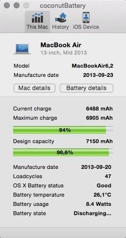 Coconut Battery (Mac)