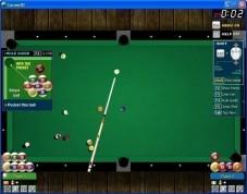 Carom3D: Mit der Maus den Tisch drehen und näher an die weiße Kugel heranzoomen