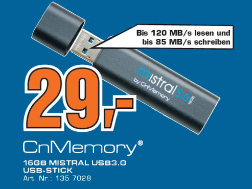 CnMemory Mistral USB 3.0 16GB © Saturn