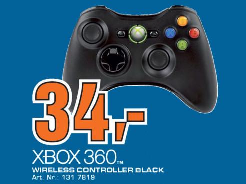 Microsoft Xbox 360 Wireless Controller (Schwarz) ©Saturn