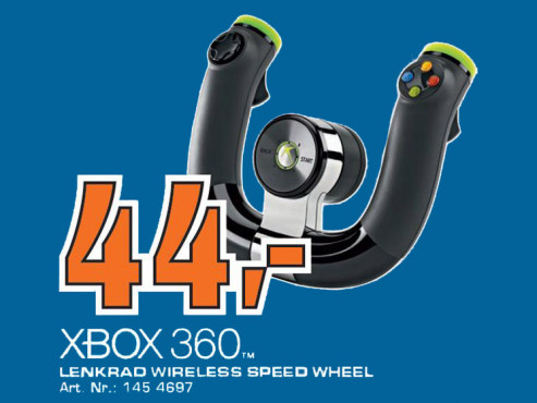 Microsoft Xbox 360 Wireless Speed Wheel © Saturn