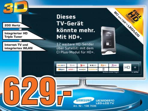 Samsung UE32D6510 ©Saturn