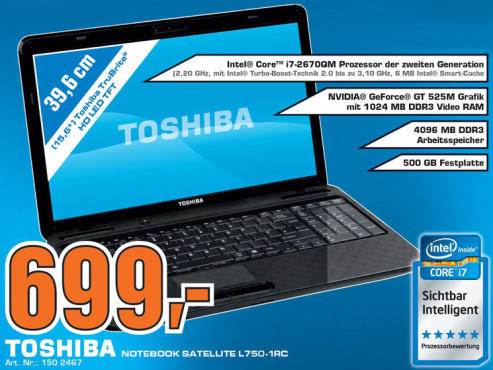 Toshiba Satellite L750-1RC © Saturn