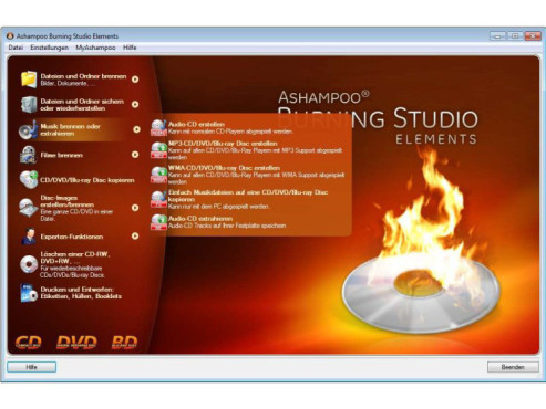 Ashampoo Burning Studio Elements – kostenlose Vollversion © COMPUTER BILD