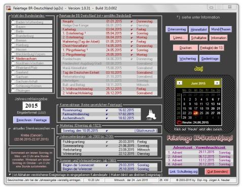 Screenshot 1 - Feiertage BRD