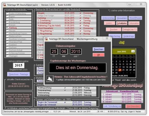 Screenshot 3 - Feiertage BRD