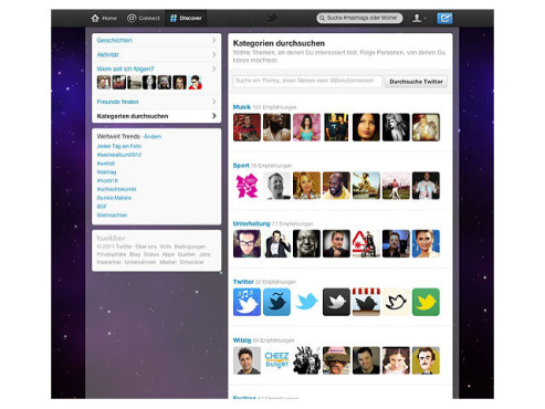 Screenshot Twitter-Design �Fly� © COMPUTER BILD