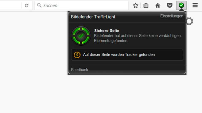 Bitdefender TrafficLight für Firefox ©COMPUTER BILD