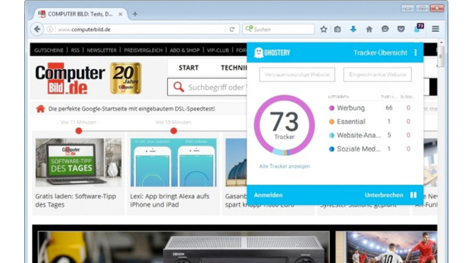 Ghostery f�r Firefox © COMPUTER BILD