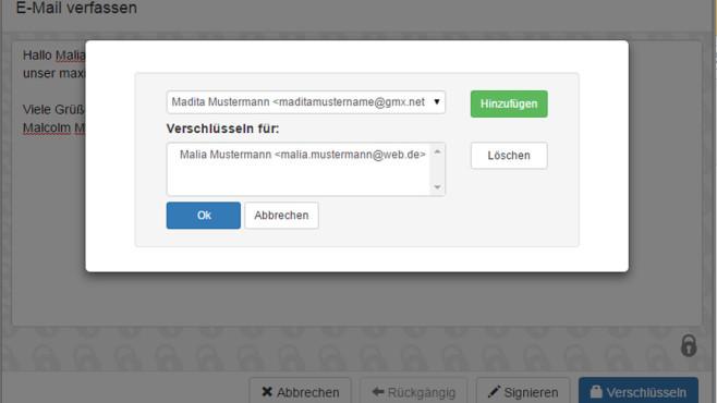 Mailvelope für Firefox ©Mailvelope