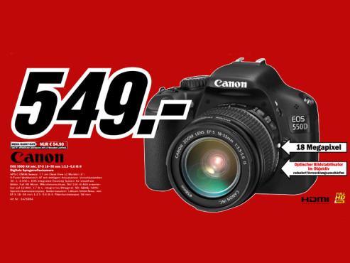 Canon EOS 550D Kit 18-55 mm ©Media Markt