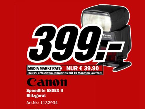 Canon Speedlite 580EX II ©Media Markt