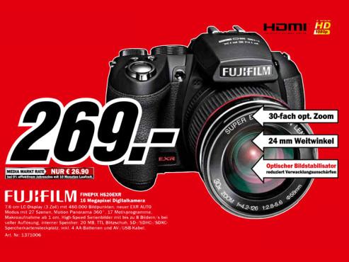 Fujifilm Finepix HS20EXR ©Media Markt