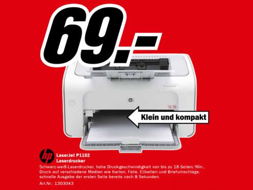 HP Laserjet Pro P1102 ©Media Markt