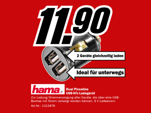 Hama Dual Piccolino ©Media Markt