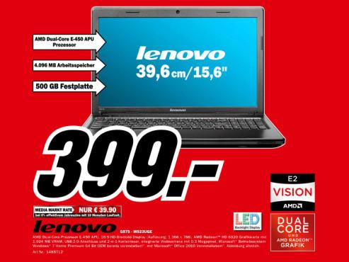 Lenovo G575 M523UGE ©Media Markt
